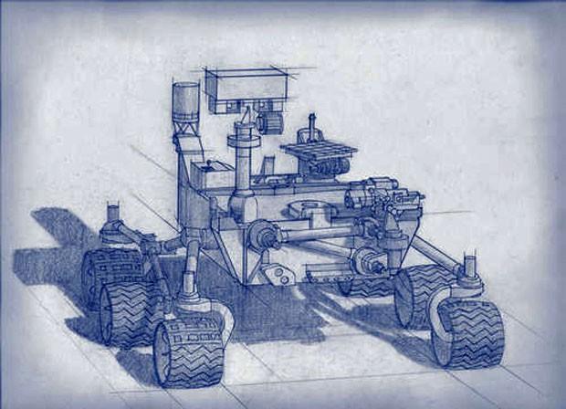 Concepção artística do futuro equipamento que será enviado a Marte em 2020 (Foto: Divulgação/Nasa)